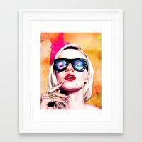 iggy azalea Framed Art Prints featuring Iggy Azalea- Orange/Pink by Tiffany Taimoorazy