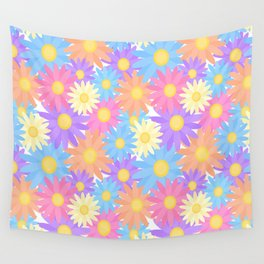 Floral Daisy Dahlia Flower Wall Tapestry