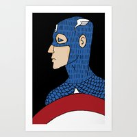 captain Art Prints featuring Captain by nu boniglio