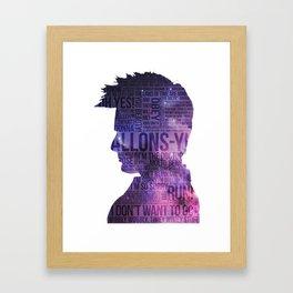 Allons-y! Framed Art Print