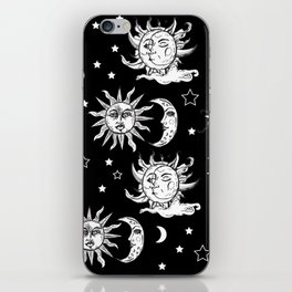 Sun and Moon Celestial Pattern iPhone Skin