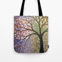 constellations Tote Bags featuring Constellations  by Amy Giacomelli