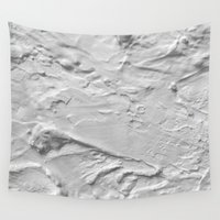 lunar Wall Tapestries featuring Lunar Surface by Marialaura