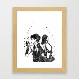 Jazz musician, watercolor jazz musician Framed Art Print