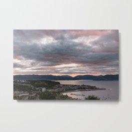 Sunset Gourock in Greenock Scotland Metal Print