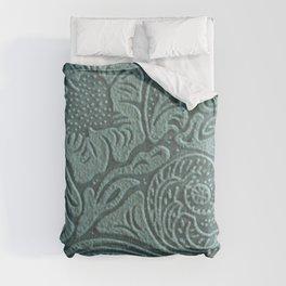 Sagey Teal Tooled Leather Comforters