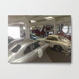 Porsche Garage Metal Print