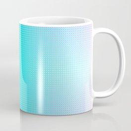 Purple Blue Black Ombre Hexagons Bi-lobe Contact binary Coffee Mug