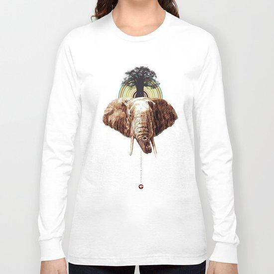 "Glue Network Print Series ""Environment & Animals"" Long Sleeve T-shirt"