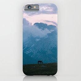 Mountain Sunset Horse - Landscape Wildlife Photography iPhone Case