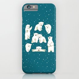 Cute Polar Bear Cubs iPhone Case