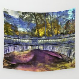 The Headless Horseman Bridge Van Gogh Wall Tapestry