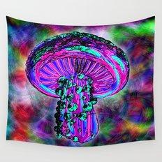 Trippy Shroom Wall Tapestry