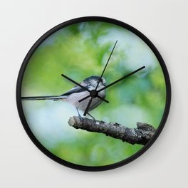 Long-Tailed Tit Wall Clock