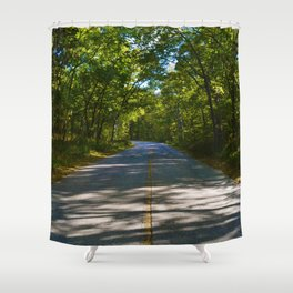 The road to Point Pelee National Park, Ontario Canada Shower Curtain