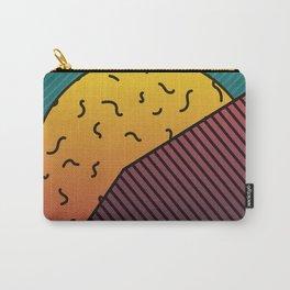 Hidden Sunset behind a mountain Graphic Design Minimal Art Carry-All Pouch