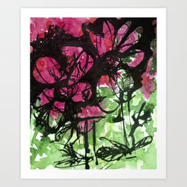 Two Red Blooms Art Print