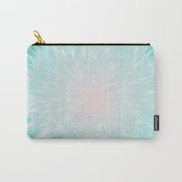 Mandala Flower Turquoise Carry-All Pouch