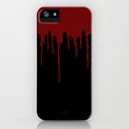Red Drip Black iPhone Case