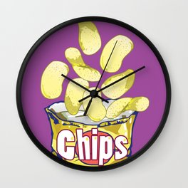 Potato Chips : Junkies Collection Wall Clock