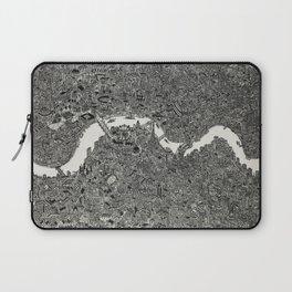 London map drawing ink pen Laptop Sleeve