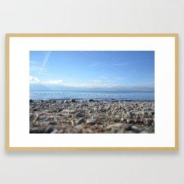 Rocky Beach Descent Framed Art Print
