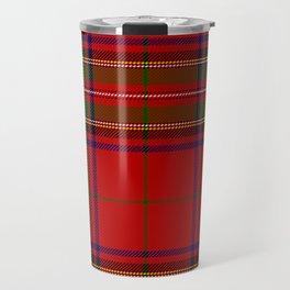 Red Tartan Plaid Travel Mug