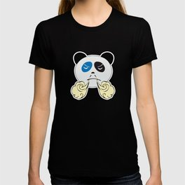 Panda Bear Face with Steam From Nose T-shirt
