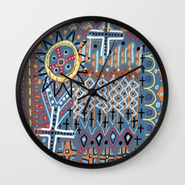 African Sun Design Wall Clock
