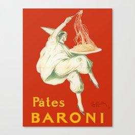 Vintage poster - Pates Baroni Canvas Print