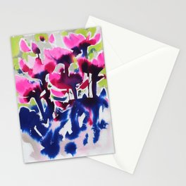 Botanika - Abstract Floral Watercolor Stationery Cards