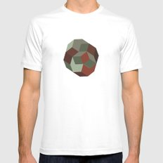 #231 Penrose's asteroid – Geometry Daily MEDIUM Mens Fitted Tee White