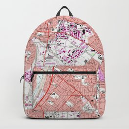 6d1aee44e7 Vintage Map of Whittier California (1965) Backpack