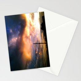 sunset skyline 4 Stationery Cards