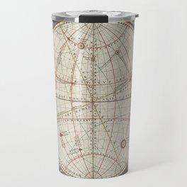 Keller's Harmonia Macrocosmica - Celestial and Terrestrial Hemisphere 1861 Travel Mug