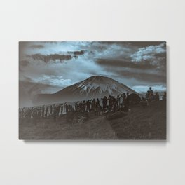 Mt. Fuji Looming Over Fuji Speedway Metal Print