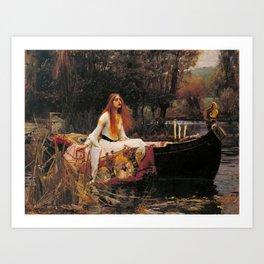 The Lady of Shallot - John William Waterhouse Art Print