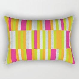 Stripes - Spring Neon Colors Rectangular Pillow
