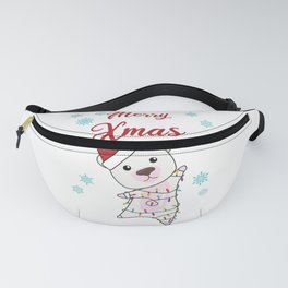 Merry Xmas Polar Bear Snow Winter Cute Animals Fanny Pack