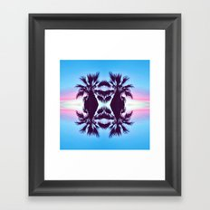 PALMADELIC BLUE Framed Art Print