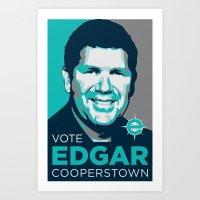Vote Edgar for Cooperstown Art Print
