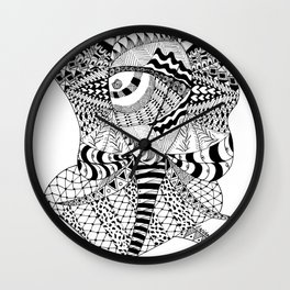 Elephant Butterfly Wall Clock