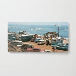 Vintage Beach Metal Print