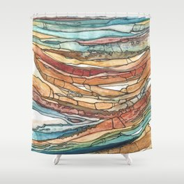Abstract Sediment Shower Curtain