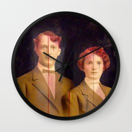 Red couple Wall Clock