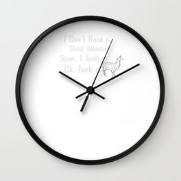 Llama Short Attention Span Wall Clock