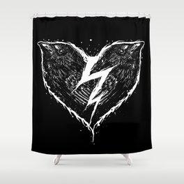 ravens heart Shower Curtain