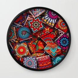 V1 Traditional Moroccan Colored Stones. Wall Clock