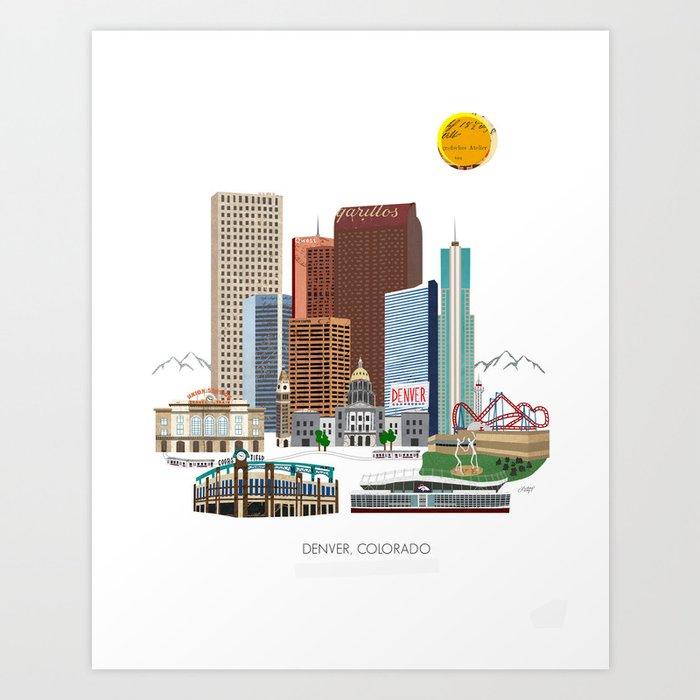 Denver Skyline Kunstdrucke