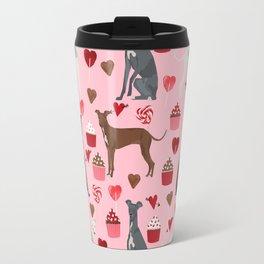 Italian greyhound love cupcakes valentines day dog breed gifts Travel Mug